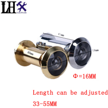 Good Quality 100% Copper Material 220 Degree Brass Wide Angle Peephole Door Viewer Door Spyphole Viewer