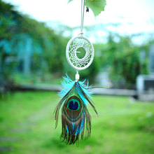 Handmade Flax Dream Catcher Net feather Hanging Peacock Native Decoration Ornament Dreamcatcher New
