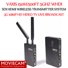 Vaxis 150m/500ft 5GHz WHDI HDMI SDI Wireless Transmission System 3G 1080P HD Video Links TV  Broadcast Transmitter and Receiver