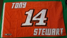 Tony Stewart Flag Giant 3'x5' NASCAR #14 Tony Stewart Indoor Outdoor High Quality Flag 3X5 Custom flag