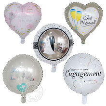 50pcs/lot 45*45cm I LOVE YOU Balloons Valentine day Wedding Decorations Party married engagement Heart shape Love Foil Globos