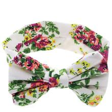 Girl Hair Band High Elastic Flowers Big Bowknot Headband Girl Headdress Accesorios Cabello #2415