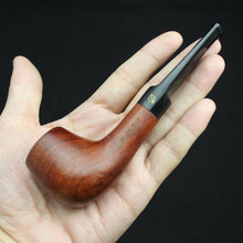 Handmade Nature Rose wood Wood Straight Smoking Pipe Round RoseWood Weed Tobacco Wooden Pipe 10X 9mm Filter+Pouch+Holder #095S