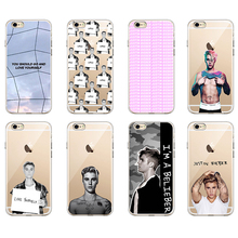 For iPhone 7 7Plus 6 6S 6Plus 5 5S 8 8Plus X SAMSUNG GALAXY Fashion JUSTIN BIEBER Sorry Love Yourself Soft TPU Phone Case(China)