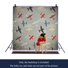 1.5* 2m/4.9 * 6.5ft Photography Background Backdrop Computer Printed Airplane Pattern for Kid Pet Photo Studio Portrait Shooting