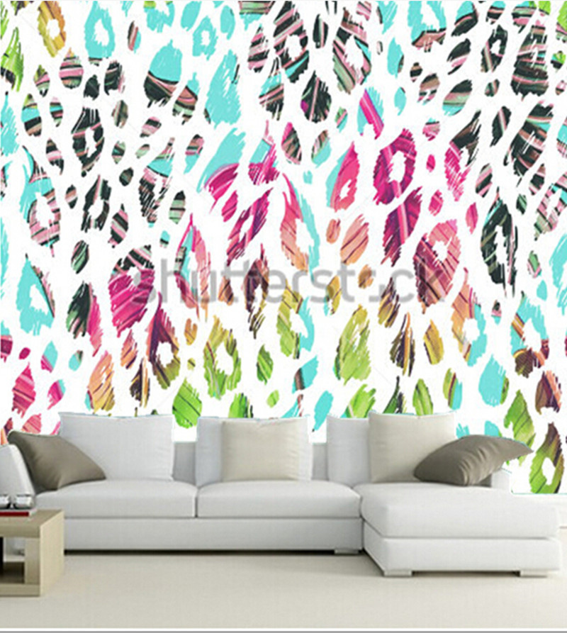 Custom 3D large  murals,beautiful fashionable floral jungle pattern background,living room sofa TV wall bedroom wall paper<br>