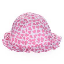Fashion Baby Kids Girls Princess Hat with Floral Pattern Bucket Hat Sun Hat Cute Beach Hat Cap