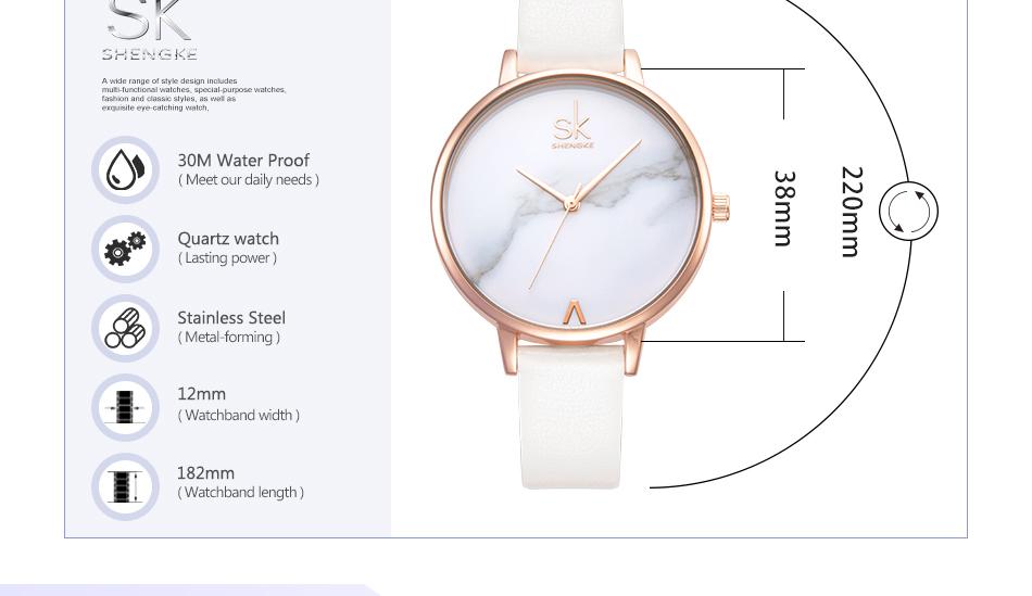 ساعة نسائية حزام جلد أنثى كوارتز الوان جميلة 7