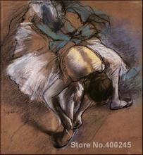 Canvas art gallery Dancer Adjusting Her Slipper by Edgar Degas oil reproduction Handmade High quality(China)
