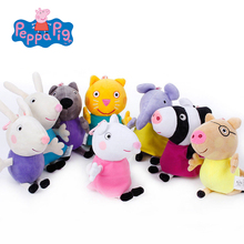 Original Peppa Pig Plush Toys Peppa George Family Stuffed Doll Peppa Friends Candy Danny Pedro Emily Birthday Gift For Kids(China)