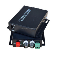 1 Pair 2 Pieces/lot 2 Channel Video Optical Converter 2V1D Fiber Optic Video Optical Transmitter & Receiver 2CH +1RS485 Data