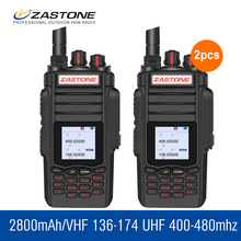 2pcs/lot ZT-A19 10W High Power Walkie Talkie 136-174&400-480Mhz 999 CH VOX Talkie Walkie FM Transceiver Amateur Radio Station