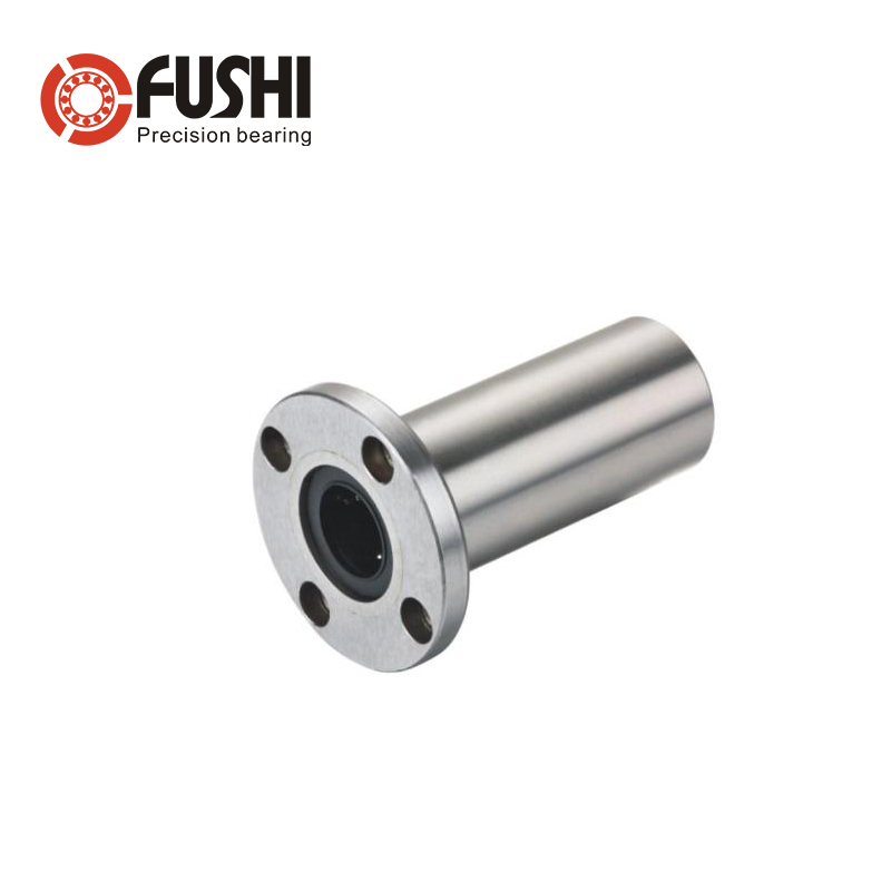 LMF LUU Round Flange Long Linear Bearing ( 2 Pcs ) LMF25LUU LMF30LUU LMF35LUU LMF40LUU Round Flange Mount Linear Bearings<br>
