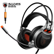 Sades SA-929 Gaming Headphones with 7.1 Virtual Channel Audio conversion Line Headset 3.5mm Interface for Mobile phone PC PS4