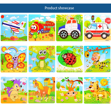 Jigsaw Puzzles For Kids Wood Puzzles For Children 3 Years Puzzle Toys Wooden Picture Puzzle Games For Kids Babys Animal 70B006(China)