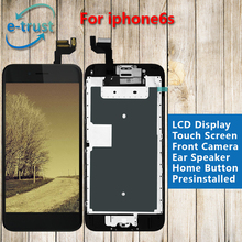 White/Black Color LCD Display For iPhone 6S Touch Screen Digitizer Frame Full Set Assembly Replacement + Home Button + Camera