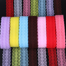 High Quality 20color 28mm wide 10yards/lot Lace ribbon white Embroidered fabric DIY accessories party wedding decoration