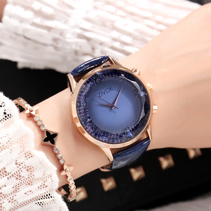 zivok Sport Wrist Watch Women Relogio Feminino Top Brand Luxury Ladies Bracelet Watches Clock Women Big dial Leather Hour Saat