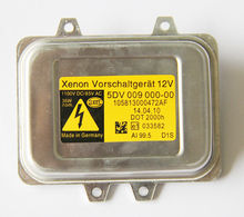 5DV 009 000-00 OEM VW HID XENON HEADLIGHT BALLAST HELLA GERMANY COMPUTER UNIT