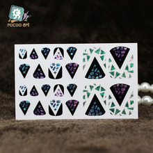 YB014 New Fashion Auto Stick Toe Nail Art Foil Stickers Color Crystal Style Magic Water Drop Manicure Adhesive Decal Nail Decors