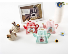 50PCS/LOT Royal Teapot Design Paper Candy Box Wedding Party Favor Box(China)