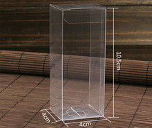 30pcs 4*4*10.5cm clear plastic pvc box packing boxes for gifts/chocolate/candy/cosmetic/crafts square transparent pvc Box