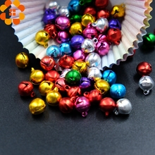 100PCS 10MM Jingle Bells Iron Loose Beads Small For Festival Party Decoration/Christmas Tree Decorations/DIY Crafts Accessories(China)