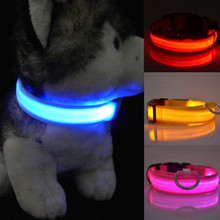 Flashing Light Up 2016 New Glow Adjustable Small Pet Led Dog Collar Supplies Products(China)