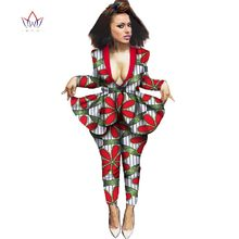 Buy BRW 2017 Fashion Autumn Africa Pant Set Women Dashiki Elegant African Clothing Bazin Riche Plus Size African Clothes WY628 for $52.12 in AliExpress store