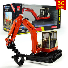 Diecast high quality 1:50 kaidiwei brand Engineering Vehicle model Wholesale toy car similar as siku-wood lift truck(China)