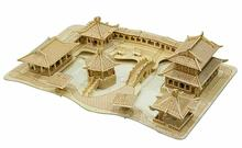 BOHS Building Toys Wooden 3D Puzzle Suzhou Gardens Building Scale Models DIY Handmade for Adult(China)