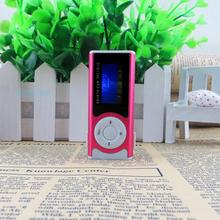Supper Slim Mini USB Clip LCD Screen MP3 Media Player with Earphone and Power Cable Support 16GB Micro SD card