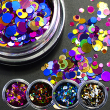 1g NEW Shining Round Shape Nail Glitter Powder Dust 3D Nail Art Decorations Nail Art Bottle Tip Stickers DIY Tools LAP01-08(China)