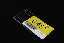 12x8cm Acrylic T1.2mm Plastic Sign Price Tag Label Display Paper Promotion Name Card Holders 20pcs label frame(China)