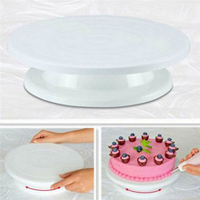 Cake Turntable Revolving Cake Decorating Stand Swivel Plate Turntable Kitchen cake tools(China)