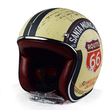 Retro Chopper Route 66 Motorcycle Helmet Harley 3/4 Open Face Vintage Helmet Moto Casque Casco Motocicleta Capacete Helmets(China)