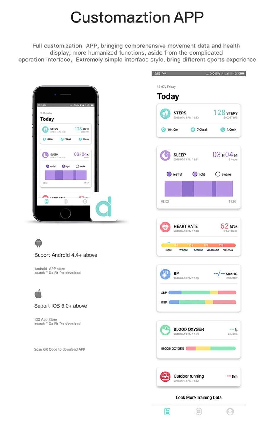 COLMI Smart Watch Men Tempered glass Fitness Tracker Blood pressure IP68 Waterproof Activity Tracker Women Smartwatch 20