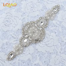 HotFix Crystal Rhinestone Trim,Beaded Rhinestone Applique for Wedding Dresses Sewing,Rhinestone Headband,Bridal Sash Belt RA1007