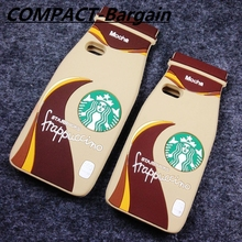 Hot 3D Starbuck Coffee Bottle Cup Frappuccino Back Shell Case for iPhone 4 4S 5 5S SE 6S plus 6 Plus 7 plus capa fundas cover