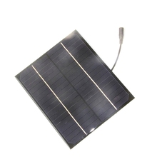 High Quality 6W 18V Mono Solar Panel +5521 DC Output  Solar Cell Solar Module DIY Solar Charger For 12V Battery Free Shipping