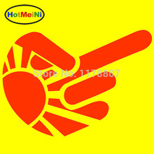 Buy HotMeiNi 12x10cm 'Shocker Finger' Funny JDM Car Sticker Car Window Truck Bumper Door Kayak Joke Vinyl Decal Black/Sliver for $1.50 in AliExpress store