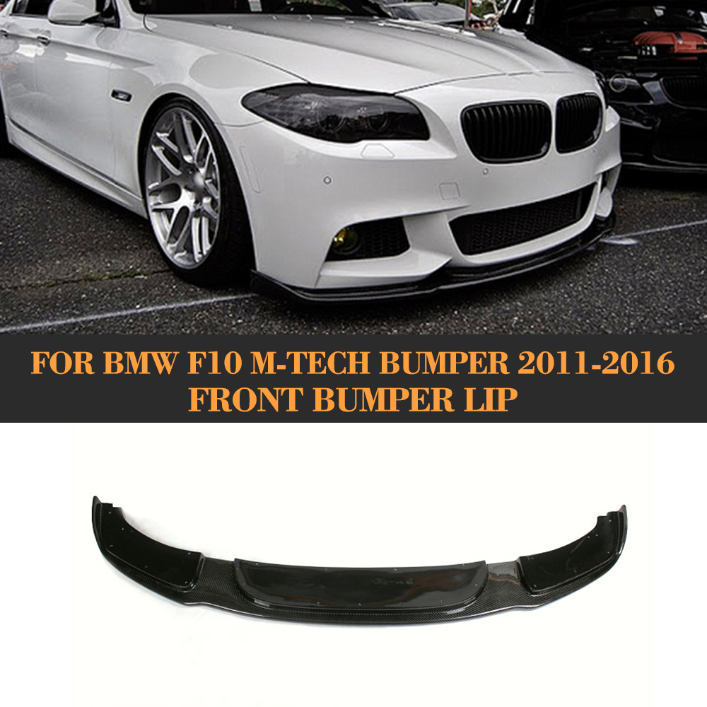 Fits 2011-2016 BMW F10 5 Series V Style Front Bumper Lip Unpainted Black PU