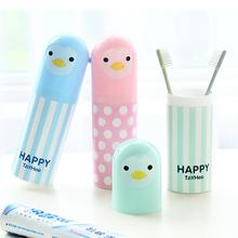Bathroom Kits Portable Cute Cartoon Animal Toothbrush Holder Travel Case Clean Box Tube Cover(China)