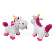 New Despicable Me Fluffy Unicorn White Soft Plush Doll Toy Pillow Gifts Toys Soft Children Kids Doll