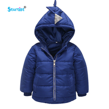 Startist Boys Coat & Jackets For Children Outerwear Clothing 2017 Cartoon Dinosaur Baby Boy Clothes Autumn Winter Boy Down Coats(China)