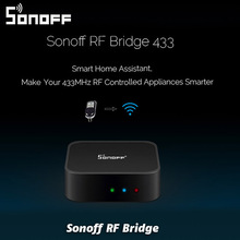 Sonoff RF Bridge Smart Home Automation Module Wifi Switch Universal Timer Diy 433Mhz Remote into WiFi wireless