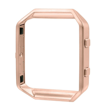 Bemorcabo Polished Stainless Steel Watch Replace Metal Frame Connect Case Holder Shell For Fitbit Blaze Smart Watch Rose Gold