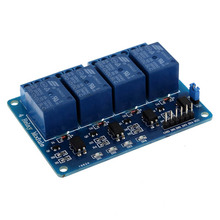 Pro Electrical Equipment Accessories 12V 4-Channel Relay Module With Optocoupler For Arduino DSP AVR PIC ARM Relays AA