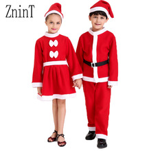 New Year Clothes Christmas for girl clothing Tops pants2 set items Shoes for boys for girls dress Winter Girl Merry Christmas345(China)