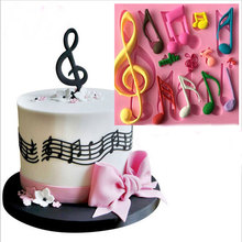 Kinds of Music Note Shape Silicone Cake Mold , Bakeware Mould For  Chocolate Cookies  Fondant Cake Tools Cake Decorating
